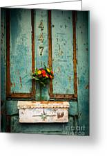Weathered Door Greeting Card by Patty Descalzi