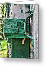 Weathered Green Paint Greeting Card