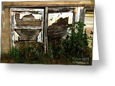 Weathered In Weeds Greeting Card