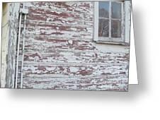 Weathered North Barn Lower Window Greeting Card