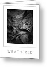 Weathered Poster Greeting Card