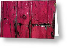 Weathered Red Greeting Card