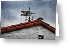 Weathered Weathervane Greeting Card by Carol Leigh