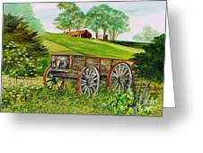 Weathered Wheels Greeting Card