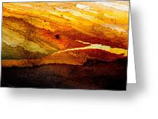 Weathered Wood Landscape Greeting Card