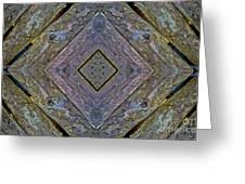 Weathered Wood Tiled IIi Greeting Card
