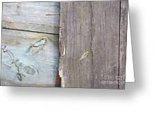 Weathered Wooden Boards Greeting Card