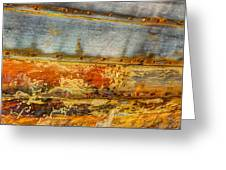 Weathered Wooden Boat - Abstract Greeting Card