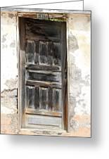 Weathered Wooden Gray Door Greeting Card