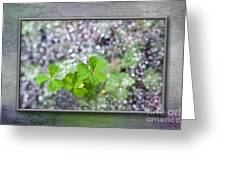 Web And Clover Art Greeting Card