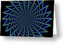 Web Mandala Greeting Card
