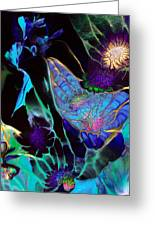 Webbed Galaxy Greeting Card by Nan Bilden