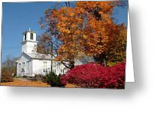 Webster Church On A Fall Day Greeting Card