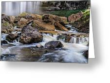 Webster Falls Greeting Card by Garvin Hunter