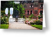Wedding Arrangement In De Haar Castle. Utrecht  Greeting Card by Jenny Rainbow