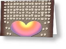 Wedding Guest Signature Book Heart Bubble Speech Shapes Greeting Card