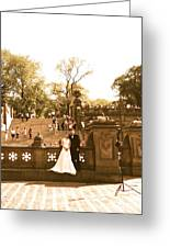 Wedding In Central Park Greeting Card