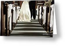 Wedding In Church Greeting Card
