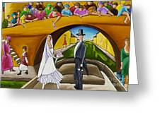 Wedding On Barge Greeting Card