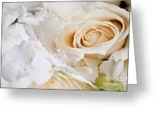 Wedding White Flowers Greeting Card