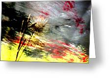 Weed Abstract Blend 2 Greeting Card