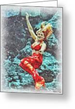 Weeki Wachee Mermaid Greeting Card