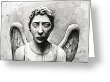 Weeping Angel Don't Blink Doctor Who Fan Art Greeting Card
