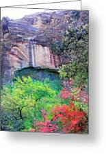 Weeping Rock At Zion National Park Greeting Card