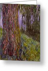 Weeping Willow And The Waterlily Pond Greeting Card
