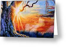 Weeping Willow Sighs Greeting Card