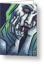 Weeping Woman Greeting Card