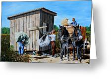 Weighing Cotton In The Field 1930s Greeting Card