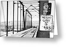 Weight Limit Shot Greeting Card