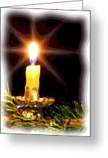 Weihnachtskerze - Christmas Candle Greeting Card