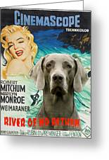 Weimaraner Art Canvas Print - River Of No Return Movie Poster Greeting Card