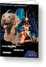 Weimaraner Art Canvas Print - Star Wars Movie Poster Greeting Card