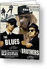 Weimaraner Art Canvas Print - The Blues Brothers Movie Poster Greeting Card