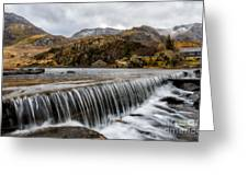 Weir At Ogwen Greeting Card