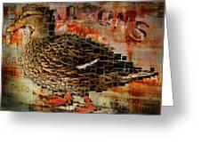 Weird Duck Greeting Card by Cindi Finley Mintie