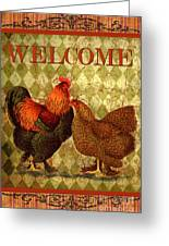 Welcome Rooster-61412 Greeting Card