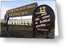 Welcome Sign To Napa Valley Greeting Card by George Oze