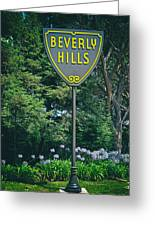 Welcome To Beverly Hills Greeting Card