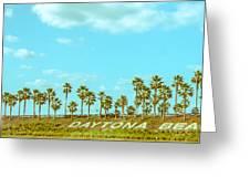 Welcome To Daytona Beach Greeting Card