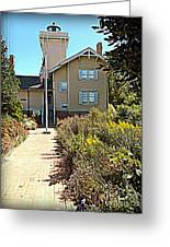 Welcome To Hereford Inlet Lighthouse Greeting Card