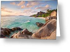 Welcome To La Digue Greeting Card