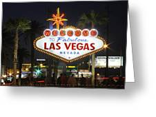 Welcome To Las Vegas Greeting Card by Mike McGlothlen