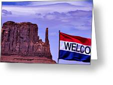 Welcome To Monument Valley Greeting Card