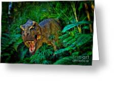 Welcome To My Park Tyrannosaurus Rex Greeting Card