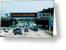 Welcome To New Jersey Greeting Card