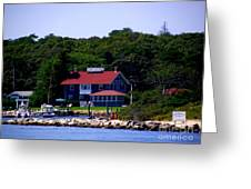 Welcome To Oak Bluffs Greeting Card